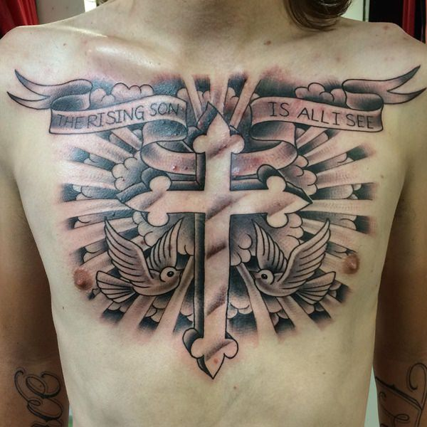 ba78428ce0219 125+ Best Cross Tattoos You Can Try! (+ Meanings) - Wild Tattoo Art