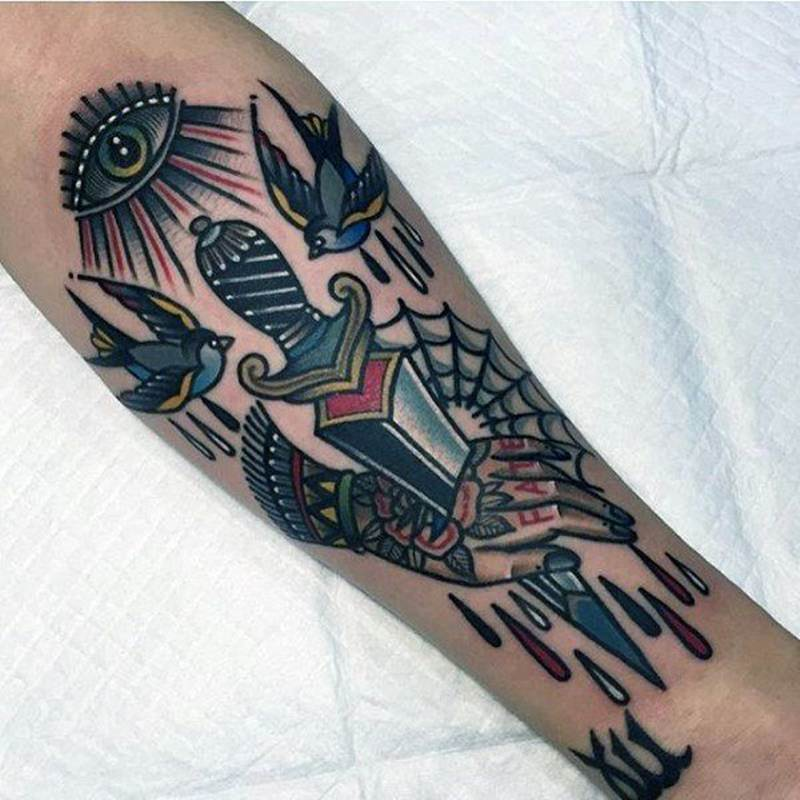 Tattoo Designs Knife: 91 Most Attractive Knife (or Dagger) Tattoos You Can Try