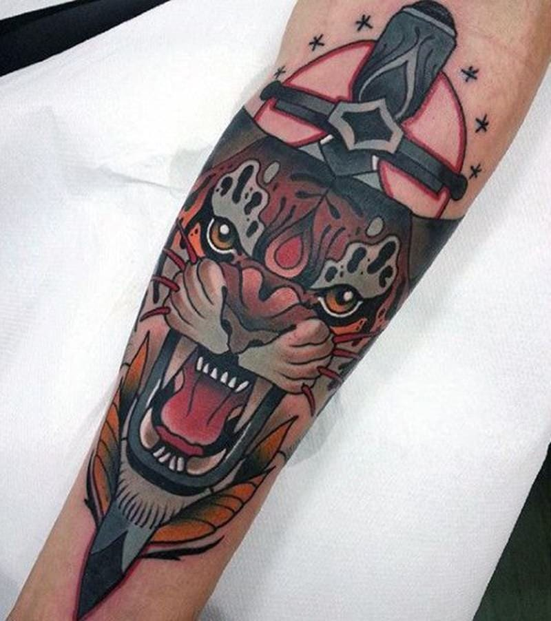 91 Most Attractive Knife (or Dagger) Tattoos You can Try - Wild ...