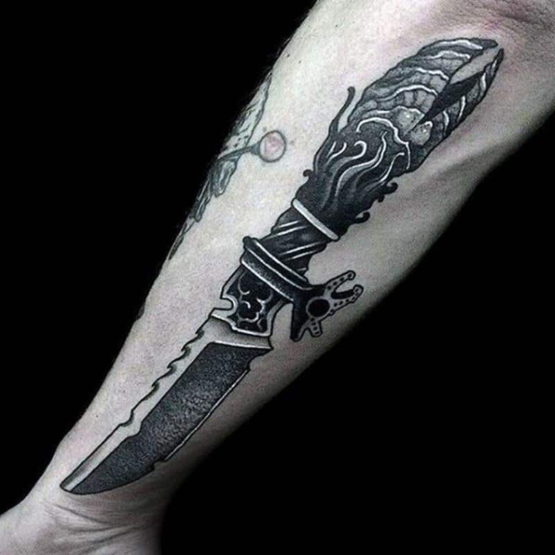 91 Most Attractive Knife (or Dagger) Tattoos You can Try