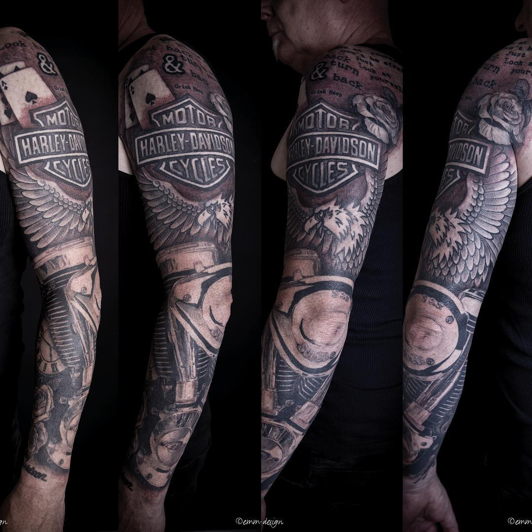 125+ Harley Davidson Tattoos: Unleash the Biker within You ... - photo#20
