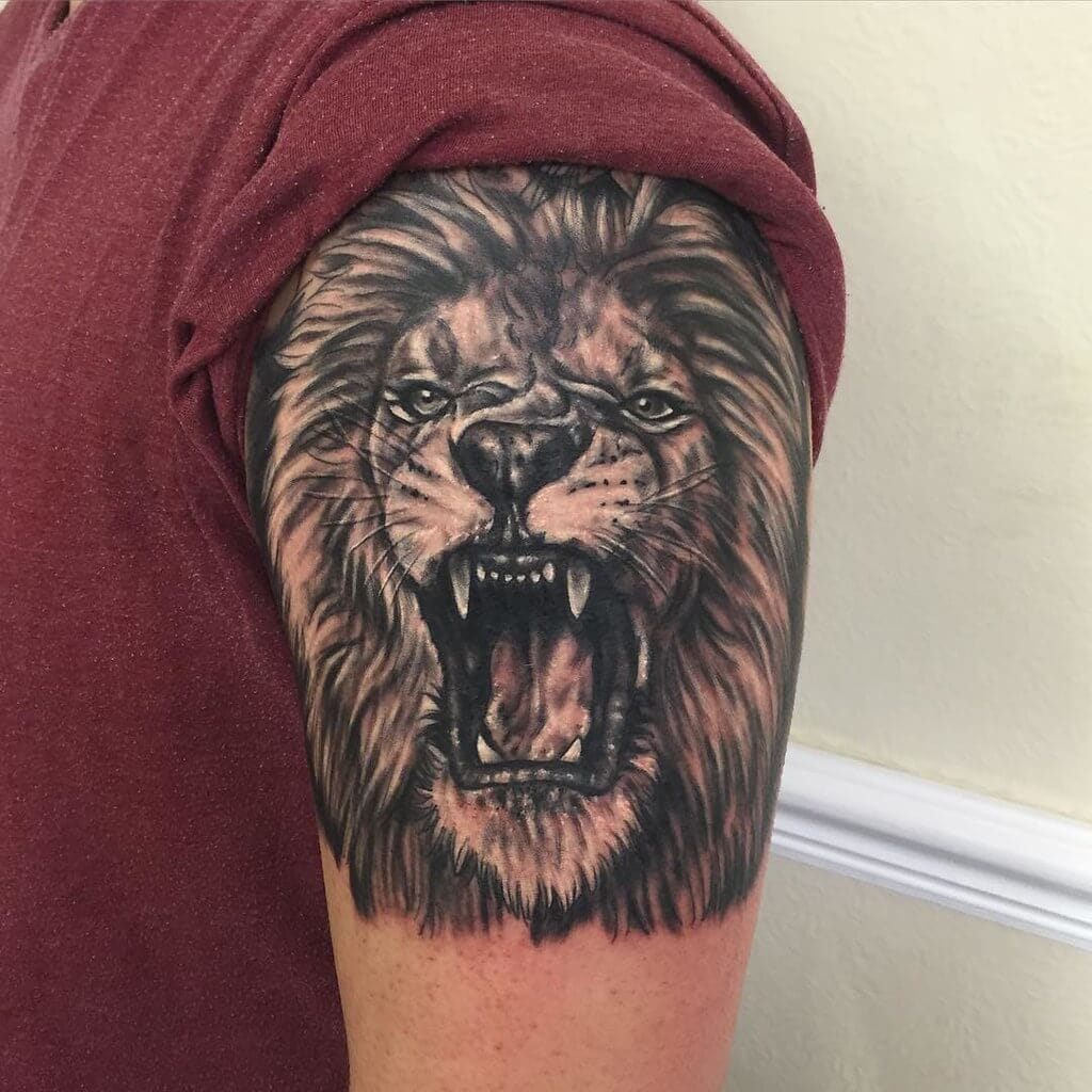 lion roar tattoo