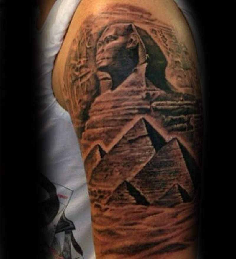 ea74f3c32 55 Pyramid Tattoos: Invoke the Spirit of Egypt! - Wild Tattoo Art