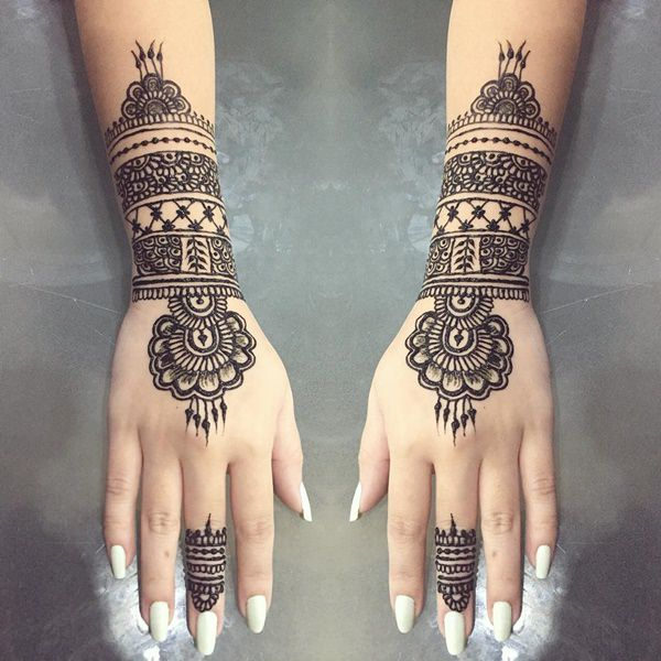 Henna Mehndi Tattoo Designs Idea For Wrist: Henna Tattoos: Everything You Need To Know [+100 Great