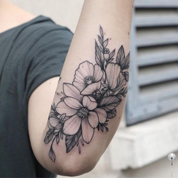 Magnolia Flower Tattoo