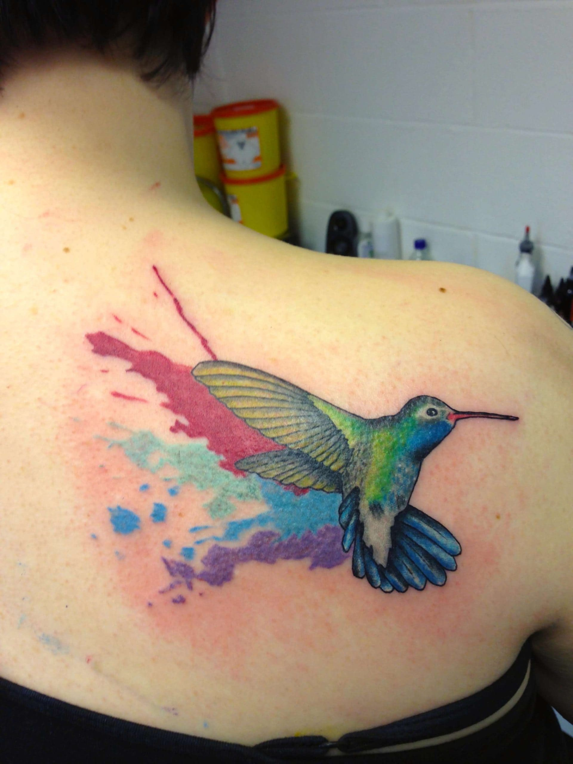 Animated Hummingbird Tattoo