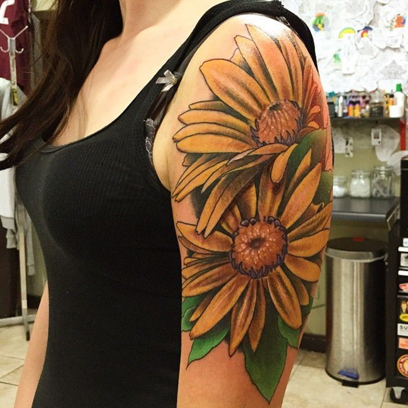 Yellow Daisy Tattoo: 125+ Daisy Tattoo Ideas You Can Go For [+ Meanings]