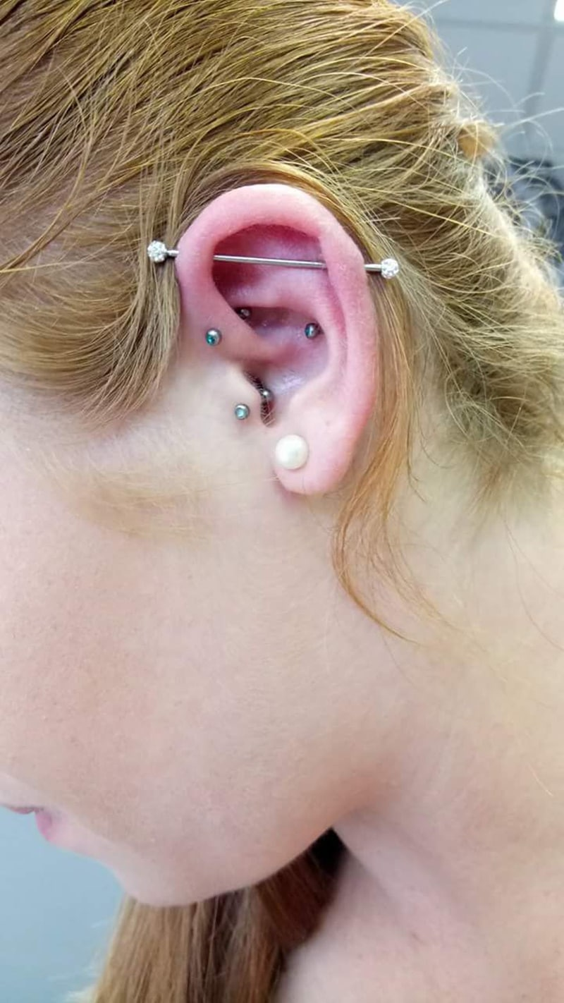 How Much Is An Oil Change >> Industrial Piercing Pain, Healing Time, Cost (with 75 ...