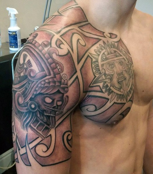 Aztec Sun God Tattoo