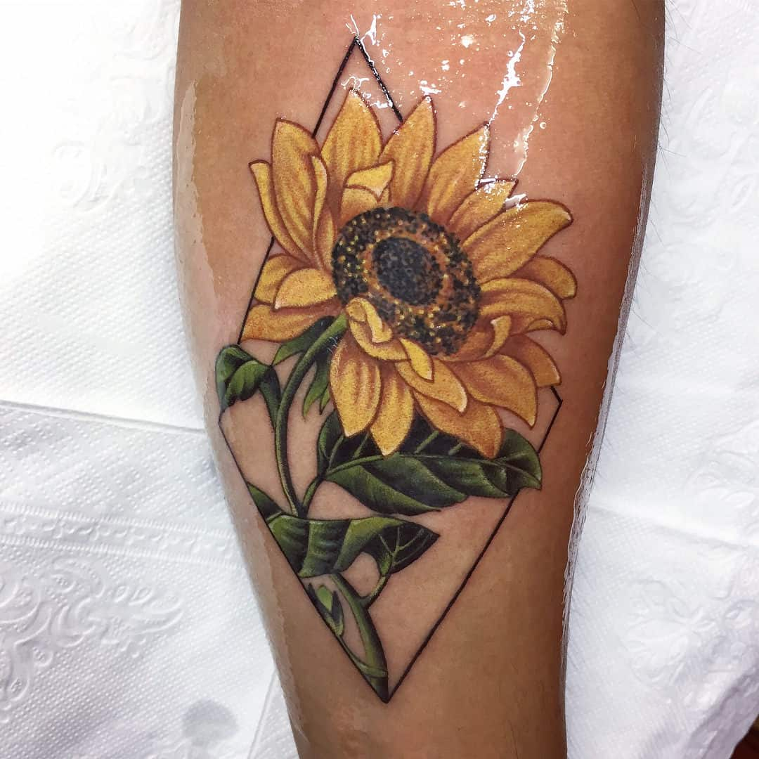 Sunflower Butterfly Outline