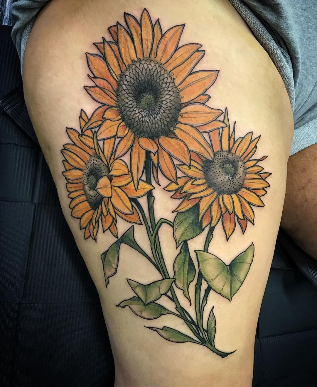 155 Sunflower Tattoos That Will Make You Glow Wild Tattoo Art