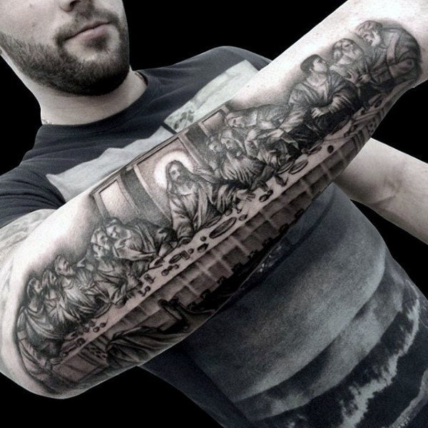 jesus sleeve tattoo
