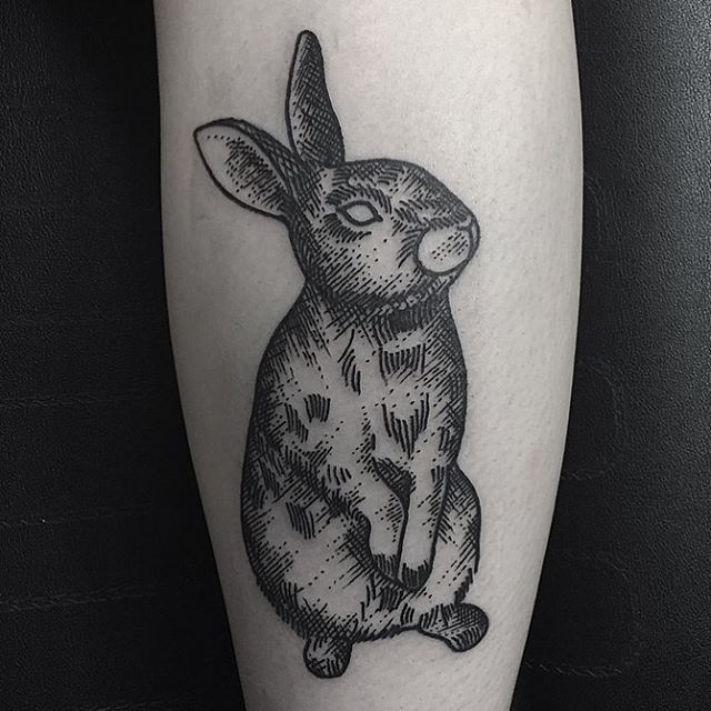 black rabbit tattoo