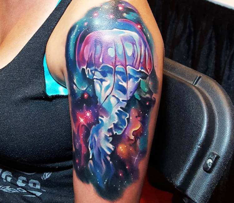 Jellyfish in Space Tattoo