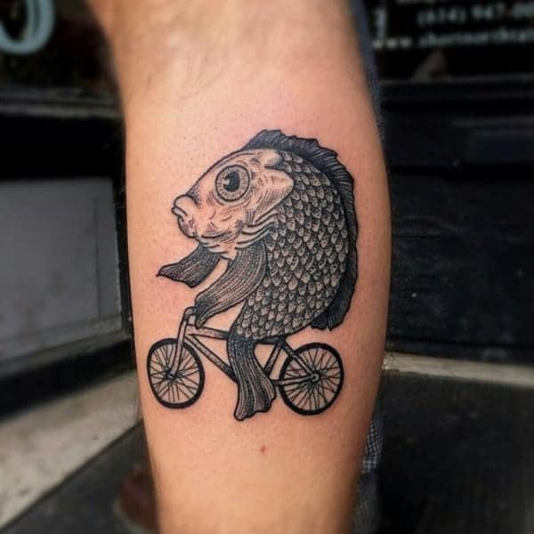 Fish Riding a Bike