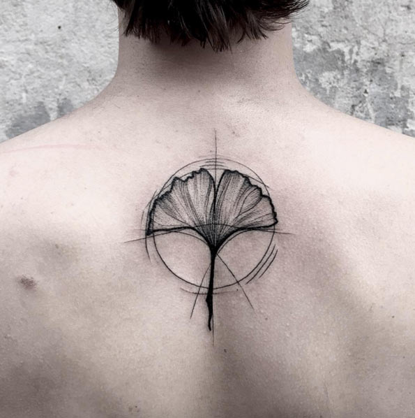 Minimal Flower Sketch Tattoo