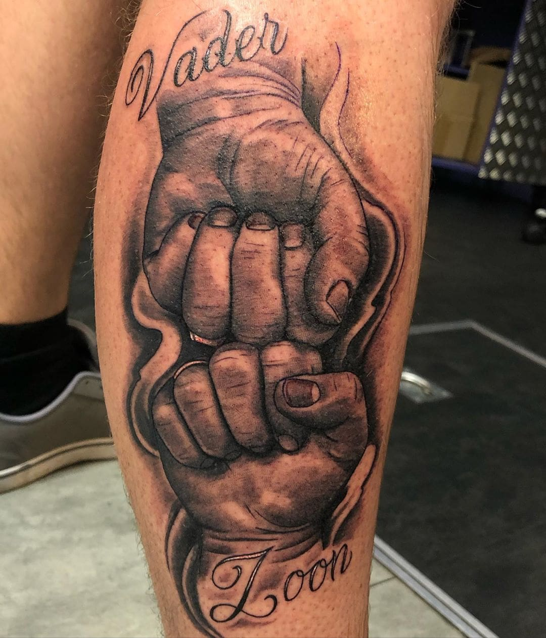 Fist Bump Kids Name Tattoo
