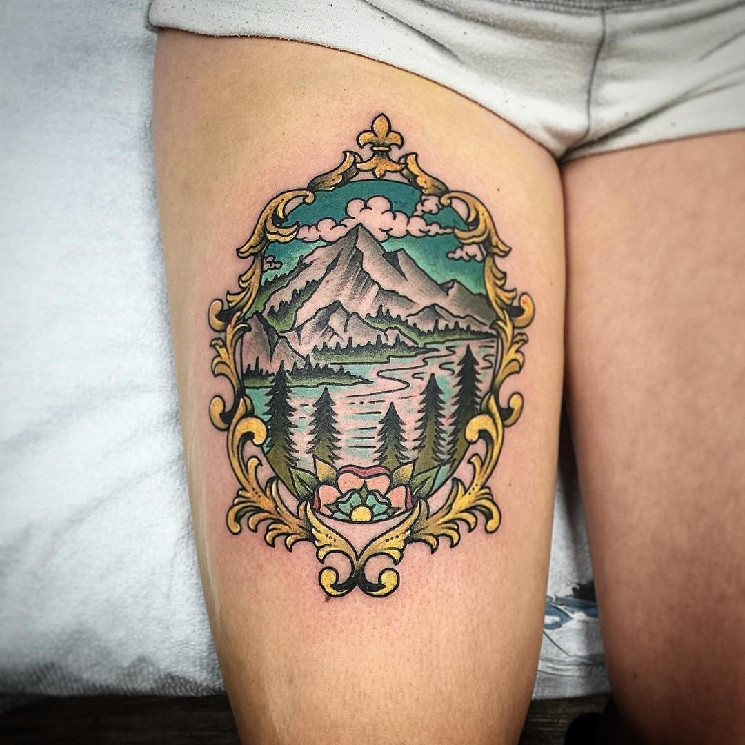 Framed Forest Tattoo