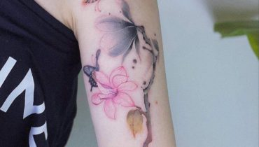 Watercolor Magnolia Tattoo